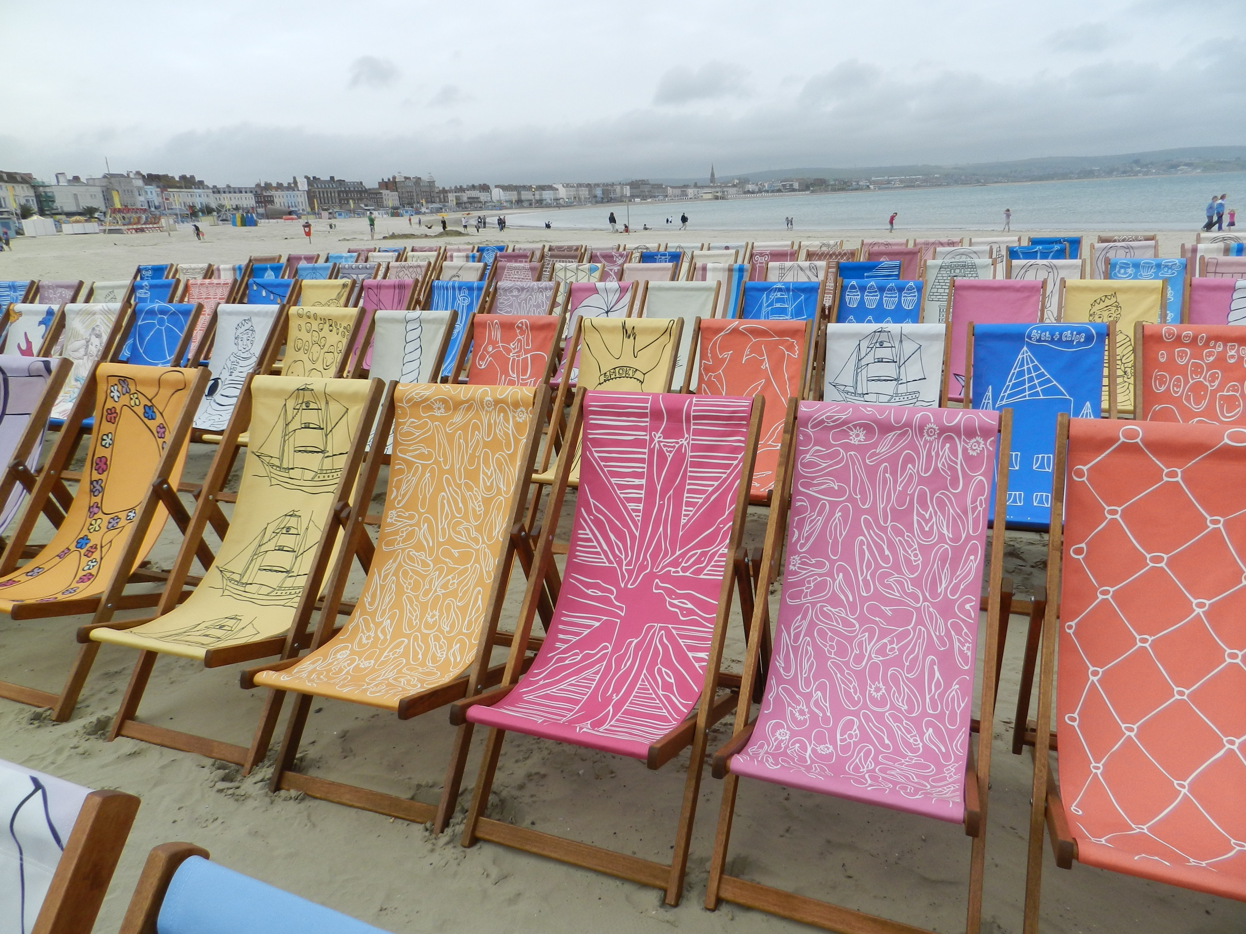 beach no prevstill deckchairs people brighton striped on colourful footage stock clip uk chairs chair deck