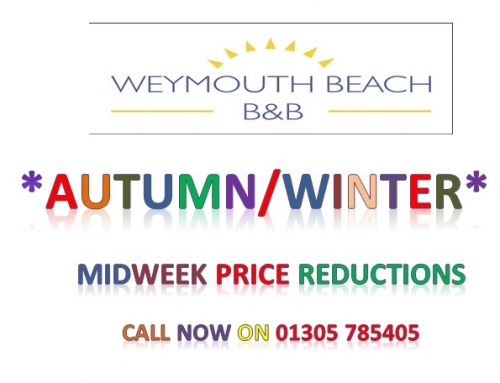 Weymouth Beach B&B – Offering reduced prices for Autumn/Winter midweek breaks